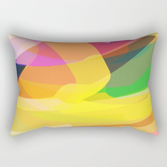 abstract print Rectangular Pillow