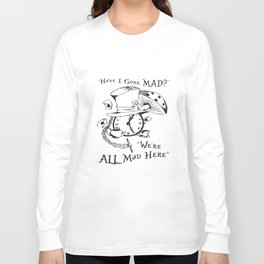 We're All Mad Here Alice In Wonderland Cheshire  Mad HatterT-Shirts Long Sleeve T-shirt
