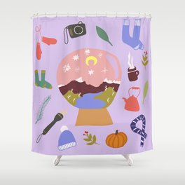 Winter on Cradle Mountain Shower Curtain
