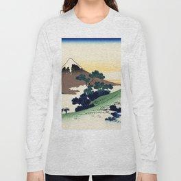 "Hokusai (1760-1849)  ""Inume Pass"" Long Sleeve T-shirt"