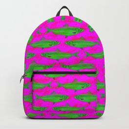 Bright Fish Pattern Backpack