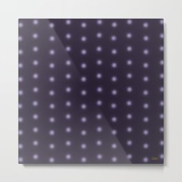 """Polka Dots Degraded & Purple shade of Grey"" Metal Print"