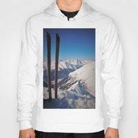 ski Hoodies featuring ski by ViiGlory