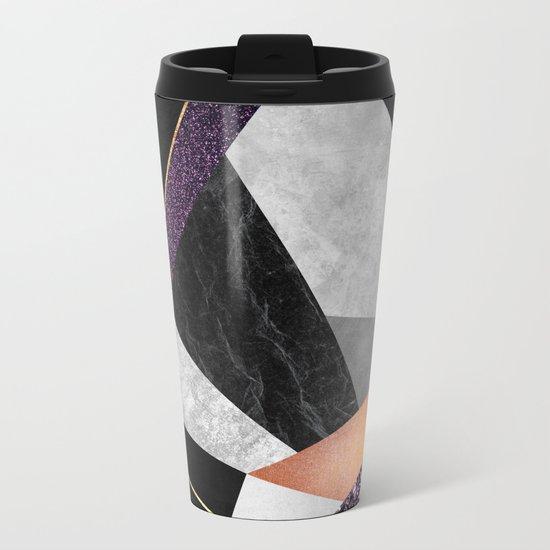 Purple Geo Metal Travel Mug