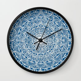 May your inner self be secure and happy (ocean blue) Wall Clock