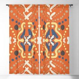 Mandala Orange Boogie Blackout Curtain