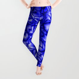 Floral blue soap bubbles with a pattern of blurred outlines. Leggings