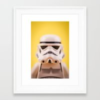 trooper Framed Art Prints featuring Trooper by MrMarkCann