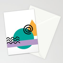 deconstructed spiral sunset Stationery Cards