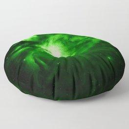 Orion NEBUla : Green Floor Pillow