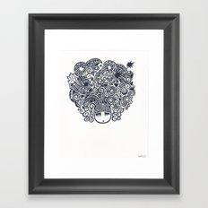 A world on her mind Framed Art Print