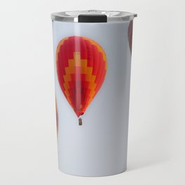 Hot air balloons launching at dawn Travel Mug
