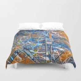 Controlled Craziness (Abstract)   Duvet Cover