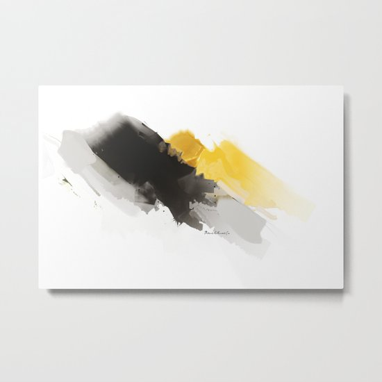Yellow Mountain Metal Print