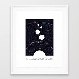 Stellarum Ordo Solaris: A map of our Solar system Framed Art Print