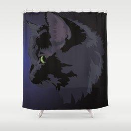 Black Cat Magic Shower Curtain