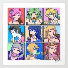 SSB4 Girls - Summer Munchies Art Print