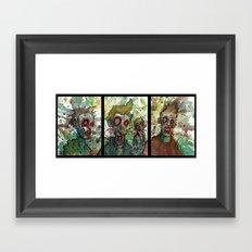 zombie triptych Framed Art Print