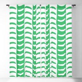 Wavy Stripes Green Blackout Curtain