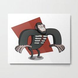 Caesar - Dawn of the Planet of the Apes Cartoon Metal Print