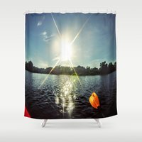 sparkle Shower Curtains featuring Sparkle by Mitchell power