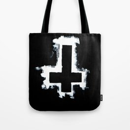 Black and White Inverted Cross Tote Bag
