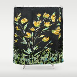 Yellow Bouquet Shower Curtain