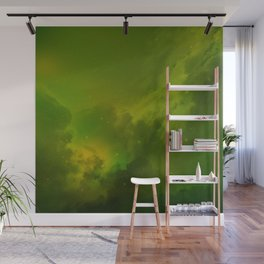 Fantasy Sci-Fi Green Galaxy Universe Wall Mural
