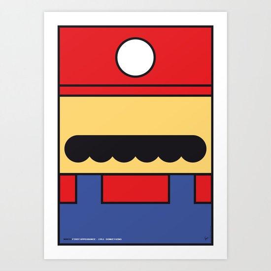 MY MARIO MARIO BROS MINIMAL POSTER Art Print