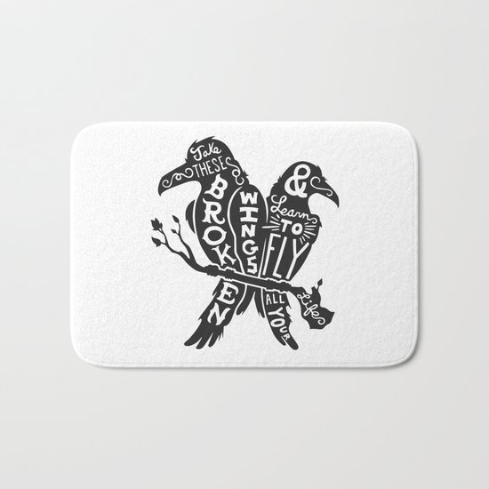 Blackbirds Singing Bath Mat