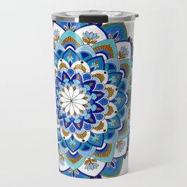 MauindiArts Virtue Mandala Print Travel Mug