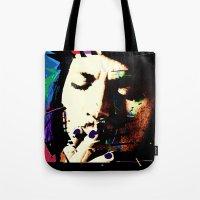 johnny depp Tote Bags featuring Johnny Depp by brett66