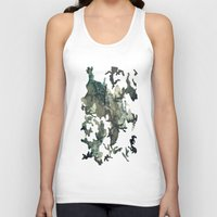 woodland Tank Tops featuring Woodland by Sander Smit