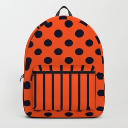 Orange, combo pattern Backpack