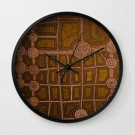 Aboriginal background Wall Clock