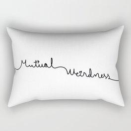 Mutual Weirdness Rectangular Pillow