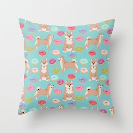 Shiba inu dog breed donuts pet gifts must have pure breeds shiba inus doughnuts Throw Pillow