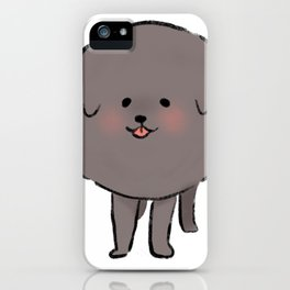 Round Poodle iPhone Case