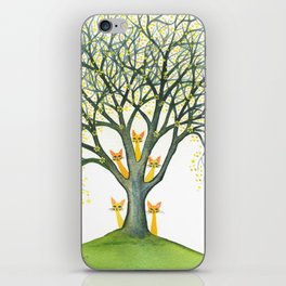 Odessa Whimsical Cats in Tree iPhone Skin