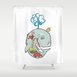 Whale's Belly Shower Curtain
