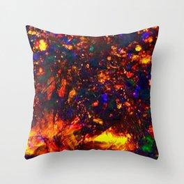 fire opal Throw Pillow