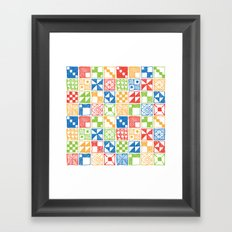 Abstract Squares Primary Framed Art Print