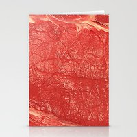 meat Stationery Cards featuring Meat by Norms