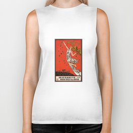 May Day Russian Revolution Poster Biker Tank