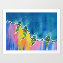Thin Line / Above and Below Art Print
