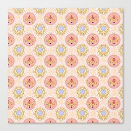 Sailor Moon broach Pattern Canvas Print