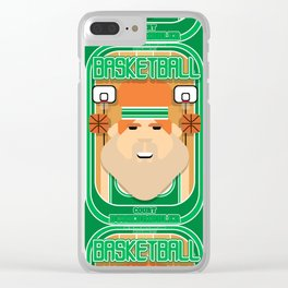 Basketball Green - Court Dunkdribbler - Josh version Clear iPhone Case