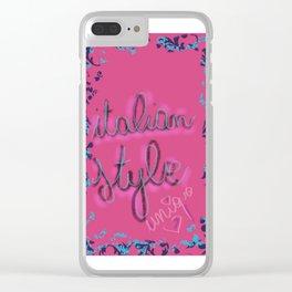 Italian style Clear iPhone Case