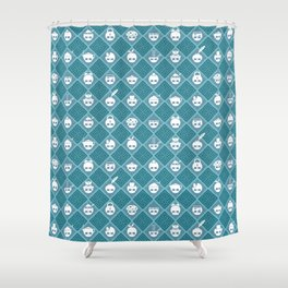 The Nik-Nak Bros. Night Bleu Shower Curtain