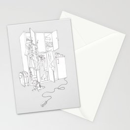 Divided Living Space Stationery Cards